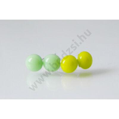 Ici-pici pötty fülbevaló szett halványzöld és kivi színben