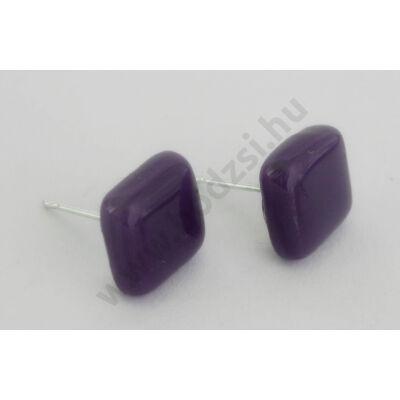Bedugós kocka fülbevaló lila színben