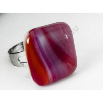 Pirosas narancsos színátmenetes üveg gyűrű