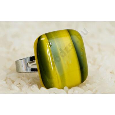 Napsárga színátmenetes üveg gyűrű