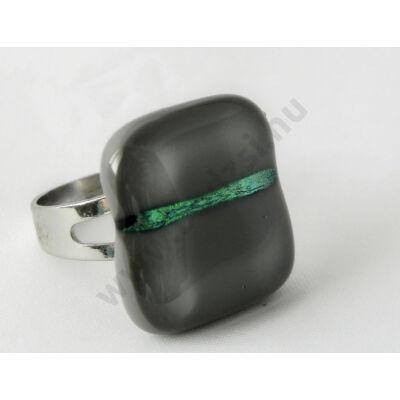 Szolidan csillogó hamuszürke üveg gyűrű MagicArt
