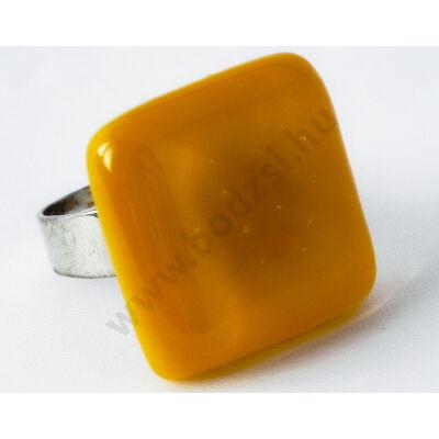 Napsárga színű üveg gyűrű-Solo