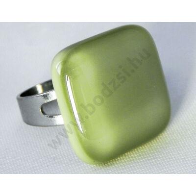 Halvány zöld üveg gyűrű-Solo