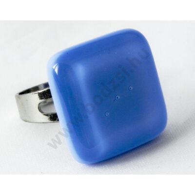 Tengerkék színű üveg gyűrű Solo