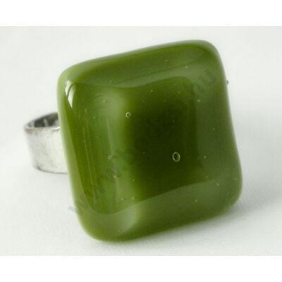 Olíva zöld üveg gyűrű-Solo