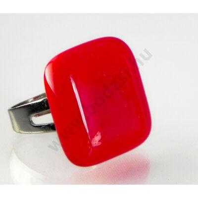 Tűzpiros üveg gyűrű-Solo